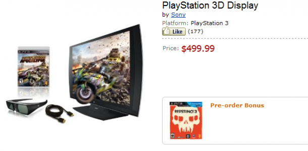 Sony Playstation 24″ 3D Display Now Comes With Motorstorm