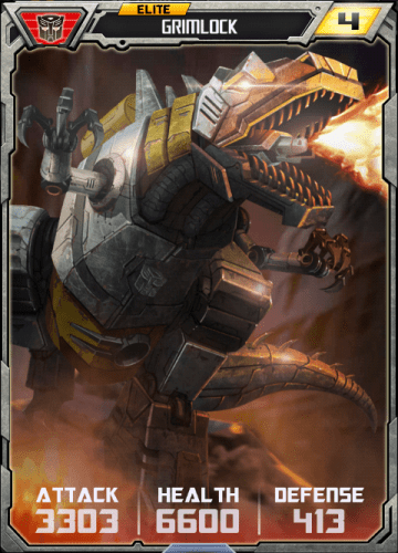 Let's be honest, we're only playing to collect the Grimlock card, right guys?... Guys??