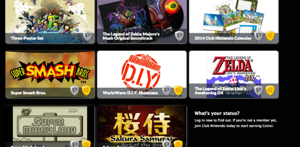 Club Nintendo Platinum rewards for this year include posters, soundtracks, disappointment